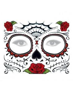 Halloweenská maska s růžemi...
