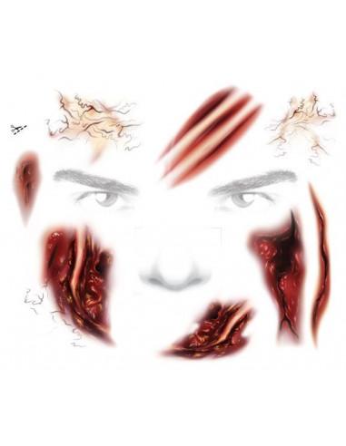 Zombie - sada tetovaček na obličej