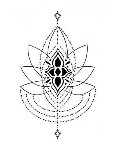 Lotos - nalepovací tetování