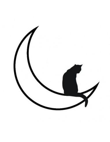 Kočka na měsíci - nalepovací tetování