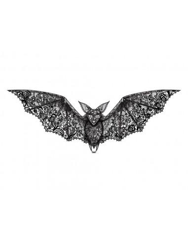 Krajkový netopýr - nalepovací tetování