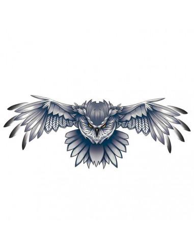 Letící sova - nalepovací tetování