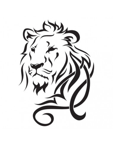 Lev - velké tribal nalepovací tetování