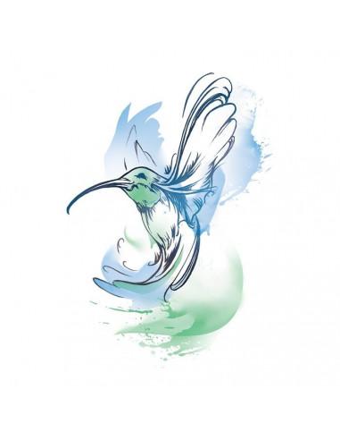 Kolibřík - vodovkové nalepovací tetování