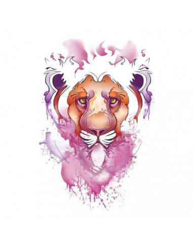 Lev - vodovkové nalepovací tetování