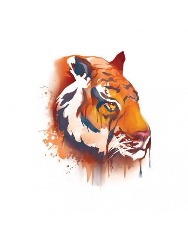 Tygr - vodovkové nalepovací tetování