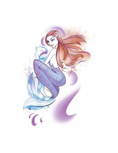 Mořská panna - vodovkové nalepovací...