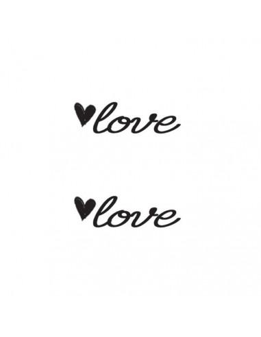 Love a srdíčko - nalepovací tetování