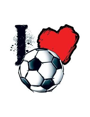 Miluji fotbal - nalepovací tetování