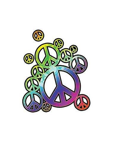 Duhové symboly míru - nalepovací...