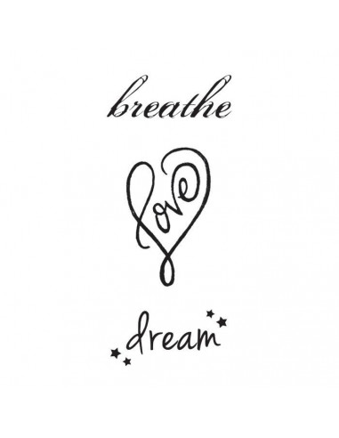Breathe, Love, Dream - nalepovací...