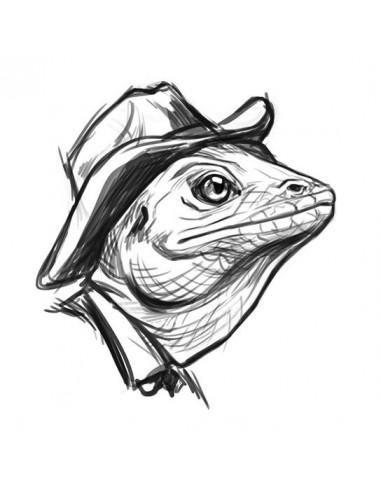 Kreslený ještěr - nalepovací tetování