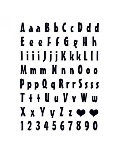 Písmena a čísla - nalepovací tetování