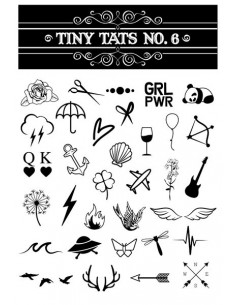Černobílé tetovačky - sada 6