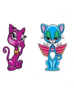 Dvě kočičky - nalepovací...