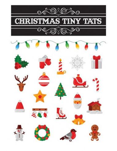 Vánoční motivy - sada tetovaček 1