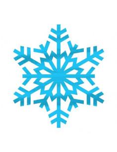 Metalická sněhová vločka -...