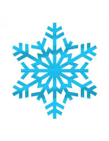 Metalická sněhová vločka - nalepovací...