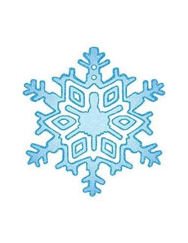 Třpytivá sněhová vločka - nalepovací...