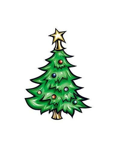 Vánoční stromeček - nalepovací tetování