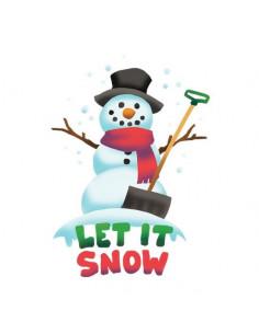 Sněhulák s nápisem Let It...