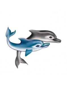 Dva delfíni - nalepovací...