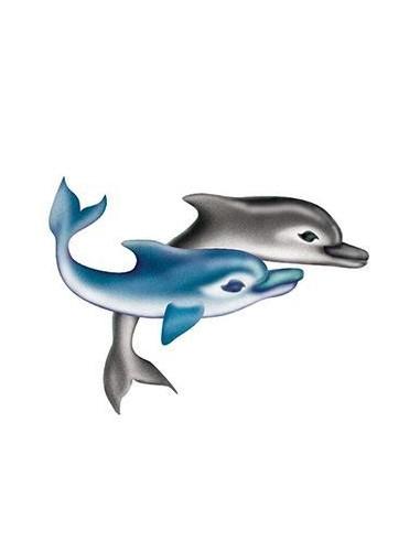 Dva delfíni - nalepovací tetování