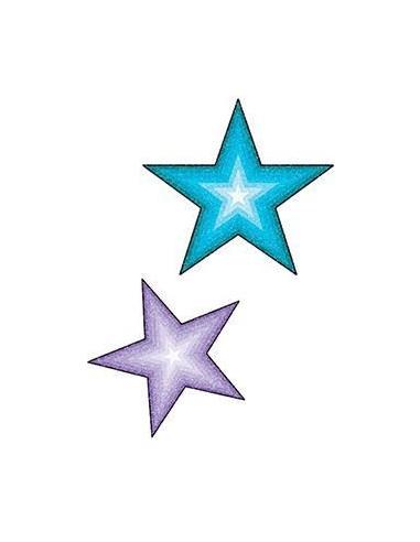 Třpytivá modrá a fialová hvězdička -...