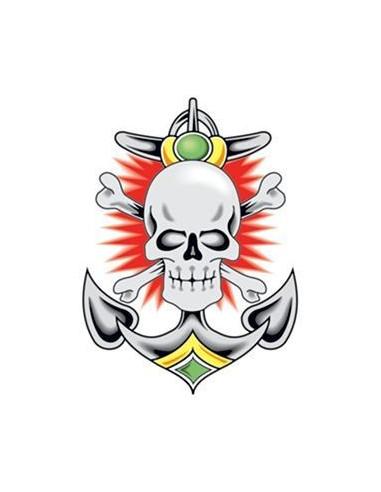 Lebka a kotva - nalepovací tetování
