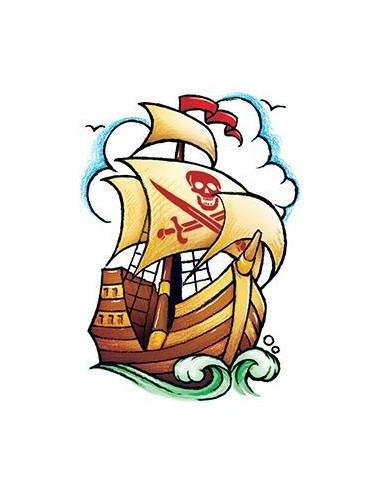 Pirátská loď - nalepovací tetování