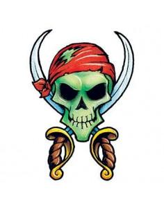 Pirátská lebka a meče -...