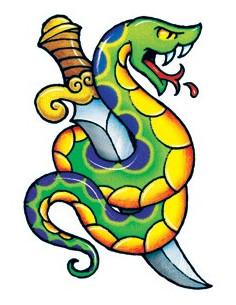 Had s dýkou - nalepovací...
