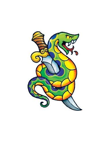 Had s dýkou - nalepovací tetování