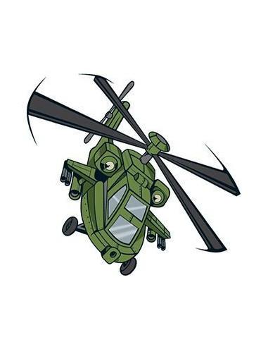 Vrtulník - nalepovací tetování