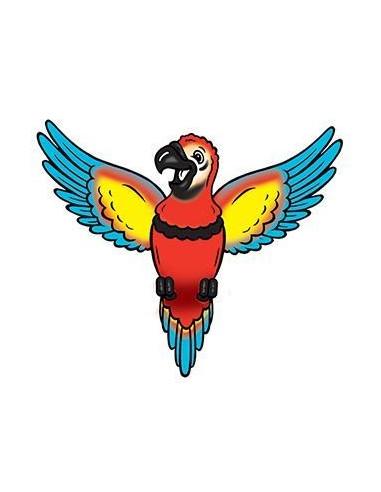 Papoušek - nalepovací tetování