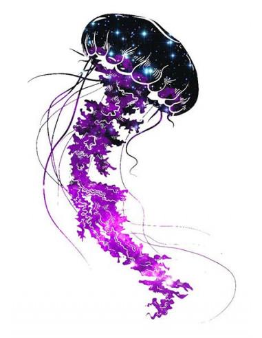 Galaktická medúza - nalepovací tetování