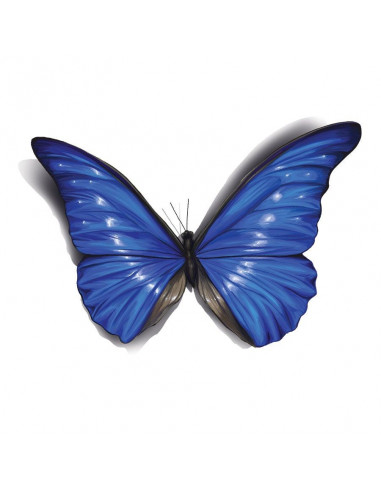 Modrý motýl s 3D efektem - nalepovací...