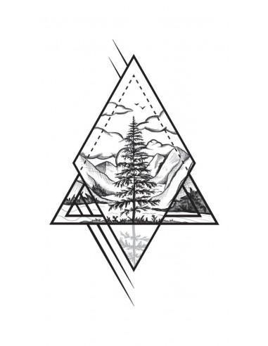 Horská krajina - nalepovací tetování