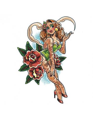 Pin-up girl s tetováním - velké...