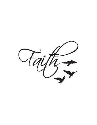 Faith a ptáčci - nalepovací tetování
