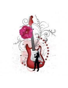 Kytara s květinami -...
