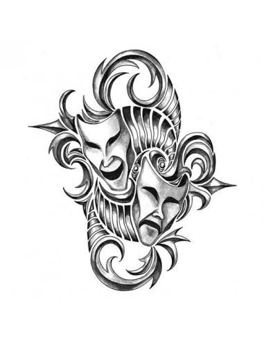 Dramatické masky - velké tribal...