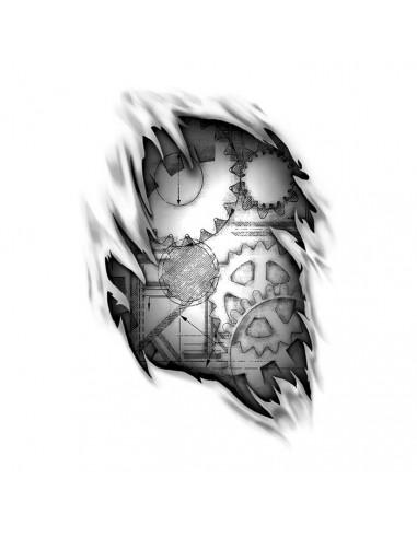 Ozubená kola 1 - nalepovací tetování