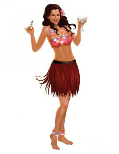 Pin-up girl Havajanka - velké...