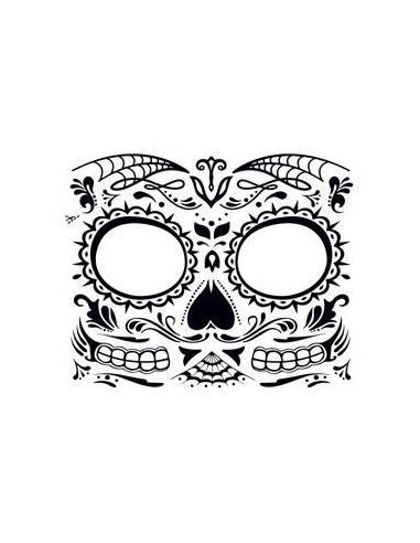 Černobílá halloweenská maska -...