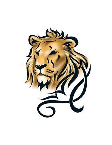 Lev - barevné tribal nalepovací tetování
