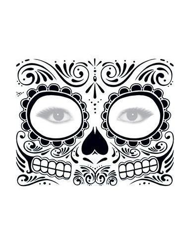 Černobílá halloweenská maska 2 -...
