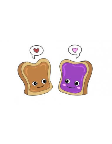Dva zamilované toasty - nalepovací...
