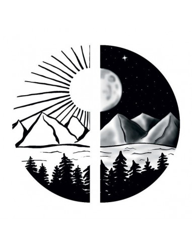 Slunce a měsíc - nalepovací tetování...