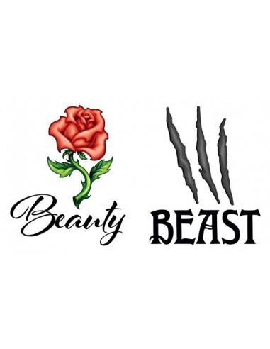Kráska a zvíře - nalepovací tetování...